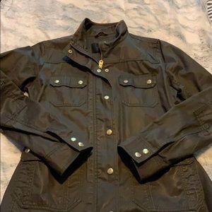 Green jcrew field jacket small